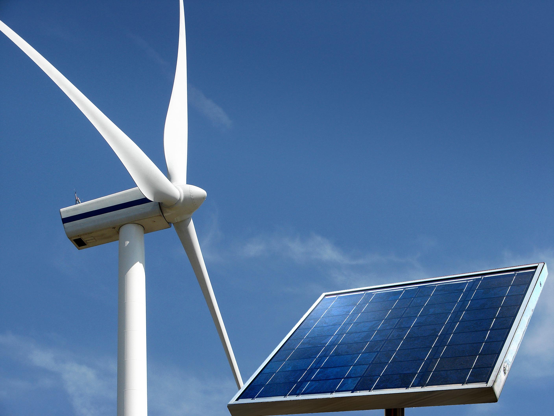 energía solar eólica